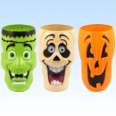 3 gruslige Halloweenbecher